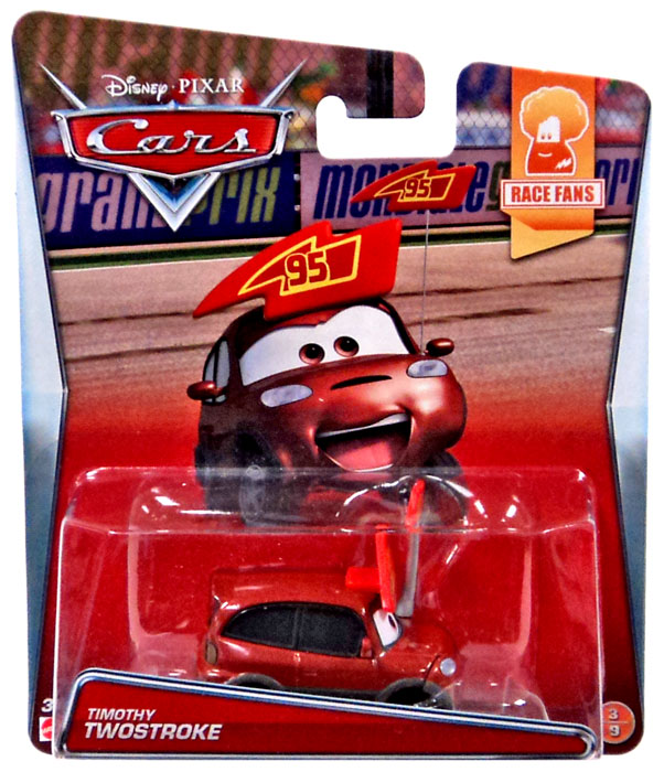 Disney Cars Race Fans Timothy Twostroke Diecast Car #3/9 ...