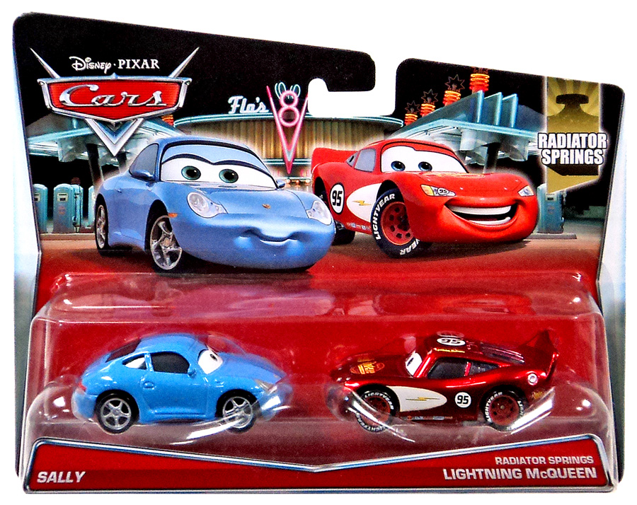 Alfa img showing gt sally and lightning mcqueen diecast