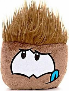 Disney Club Penguin 4 Inch Plush Puffle Brown [NO CODE!] Random Facial Expression!
