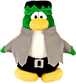 Disney Club Penguin 6.5 Inch Series 4 Plush Figure Frankenpenguin {Version 2} [Includes Coin with Code!] Chase Piece!
