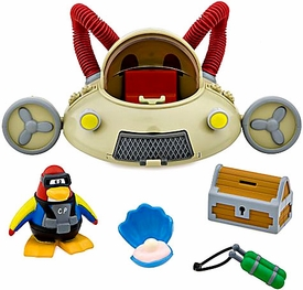 Disney Club Penguin Vehicle Set Aqua Grabber Vehicle with Scuba Diver Figure [Includes Coin with Code!]