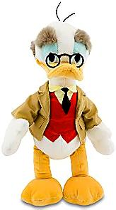 Disney Exclusive 18 Inch Deluxe Plush Figure Professor Ludwig Von Drake