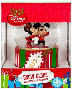 Disney Exclusive 2013 Mickey & Minnie Mouse Snow Globe Damaged Package, Mint Contents!