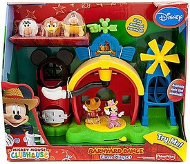 Disney Exclusive Mickey Mouse Clubhouse Barnyard Dance Farm Playset