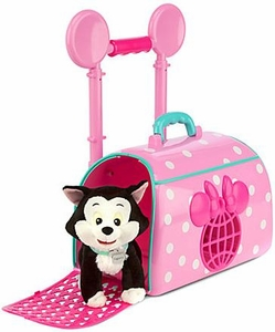 Disney Exclusive Play Set Minnie Mouse and Figaro Pet Travel Carrier New!