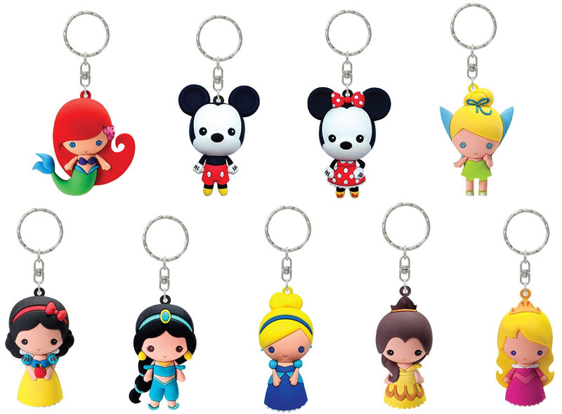 Disney Series 1 Mini Figure Keyring Mystery Box Figural