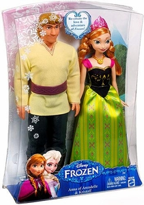 Disney Frozen 11 Inch Doll 2-Pack Anna of Arendelle & Kristoff New!