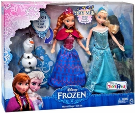 Disney Frozen 12 Inch Doll 2-Pack Musical Magic Gift Set [Anna, Elsa & Olaf]