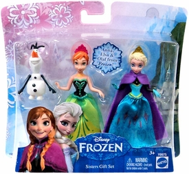 Disney Frozen 3.75 Inch Action Figure 3-Pack Sisters Gift Set [Anna, Elsa & Olaf] New Hot!