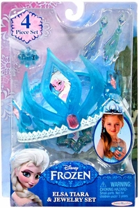 Disney Frozen Elsa Tiara & Jewelry Set