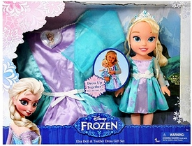 Disney Frozen Elsa Toddler Doll & Dress Gift Set New!