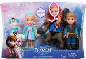 Disney Frozen Exclusive 6 Inch Doll Toddler Gift Set [Anna, Elsa, Kristoff, Olaf & Sven]