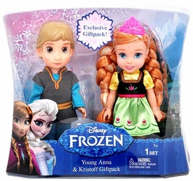 Disney Frozen Exclusive 6 Inch Doll Toddler Gift Set Young Anna & Kristoff