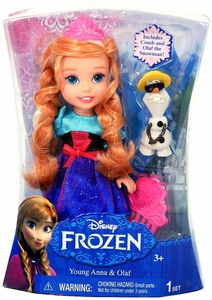 Disney Frozen Exclusive 6 Inch Doll Toddler Gift Set [Young Anna & Olaf]