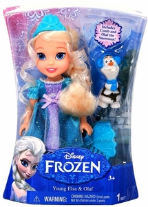 Disney Frozen Exclusive 6 Inch Doll Toddler Gift Set [Young Elsa & Olaf]