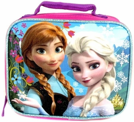 Disney Frozen Insulated Lunch Tote Anna & Elsa [Pink & Blue] New!