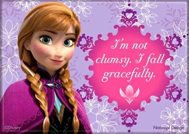 Disney Frozen Magnet Anna I'm Not Clumsy. I Fall Gracefully