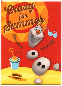 Disney Frozen Magnet Olaf Crazy for Summer