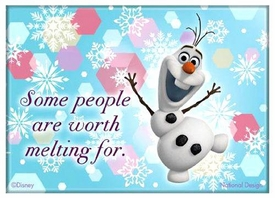 Disney Frozen Magnet Olaf Some People are Worth Melting For