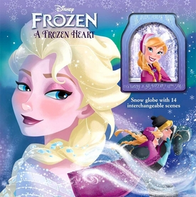 Disney Frozen Movie A Frozen Heart Storybook & Snowglobe