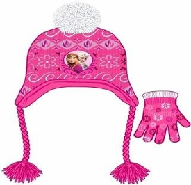 Disney Frozen Peruvian Knit Hat & Glove Set Anna & Elsa Pre-Order ships September