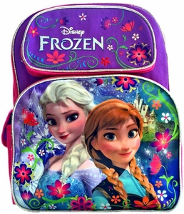 Disney Frozen Pink & Purple Anna & Elsa Flowers Backpack