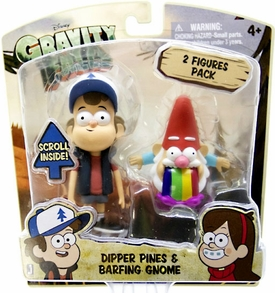 Disney Gravity Falls 3 Inch Action Figure 2-Pack Dipper Pines & Barfing Gnome Pre-Order ships April