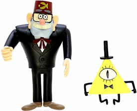 Disney Gravity Falls 3 Inch Action Figure 2-Pack Grunkle Stan & Bill Cipher Hot! Pre-Order ships September