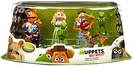 Disney Muppets Most Wanted Exclusive 7-Piece PVC Figurine Playset [Kermit, Miss Piggy, Fozzie, Gonzo, Animal, Walter & Constantine]