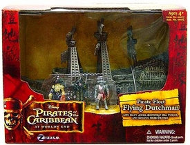 Disney Pirates of the Caribbean At Worlds End Zizzle Micro Ship Playset The Flying Dutchman Damaged Package, Mint Contents!