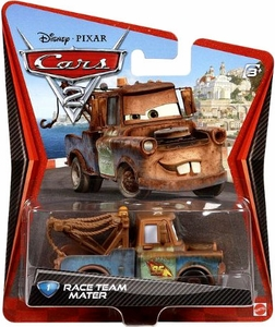 Disney / Pixar CARS 2 Movie 1:55 Die Cast Car #1 Race Team Mater Hot!