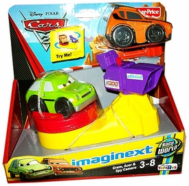 Disney / Pixar CARS 2 Movie Imaginext Exclusive Vehicle & Accessory Playset Grem, Acer & Spy Camera