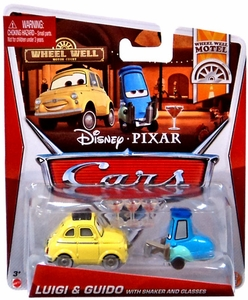 Disney / Pixar CARS MAINLINE 1:55 Die Cast Car 2-Pack Luigi & Guido with Shaker & Glasses [Wheel Well Motel 9 - 10 /11]