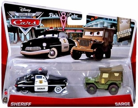 Disney / Pixar CARS Movie 1:55 Die Cast Car 2-Pack MAINLINE World of Cars Sheriff & Sarge [Radiator Springs 5/15 & 6/15]