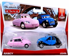 Disney / Pixar CARS MAINLINE 1:55 Die Cast Car 2-Pack World of Cars Nancy & John [Paris Tour 2/7]
