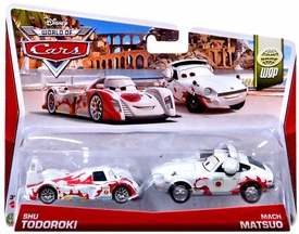 Disney / Pixar CARS MAINLINE 1:55 Die Cast Car 2-Pack World of Cars Shu Todoroki & Mach Matsuo [WGP 13/15 & 14/15]