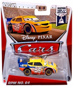 Disney / Pixar CARS MAINLINE 1:55 Die Cast Car RPM No. 64 [Piston Cup 17/18]