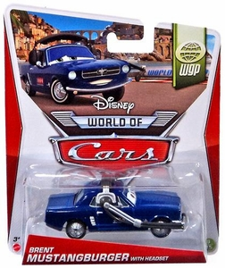 Disney / Pixar CARS MAINLINE 1:55 Die Cast Car World of Cars Brent Mustangburger with Headset [WGP 9/15]