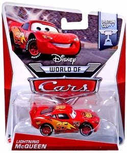 Disney / Pixar CARS MAINLINE 1:55 Die Cast Car World of Cars Lightning McQueen [Piston Cup 1/16]