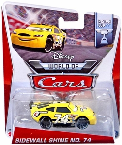 Disney / Pixar CARS MAINLINE 1:55 Die Cast Car World Of Cars Sidewall Shine No. 74 [Piston Cup 15/16]