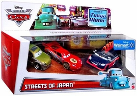 Disney / Pixar CARS Exclusive 1:55 Die Cast 3-Pack Streets of Japan [Kaa Reesu, Dragon Lightning McQueen & Yokoza]