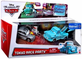 Disney / Pixar World of Cars Exclusive 1:55 Die Cast 3-Pack Tokyo Race Party [Manji, Tokyo Mater & Teki]