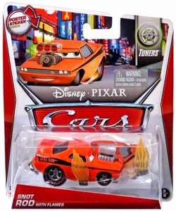 Disney / Pixar CARS Movie 1:55 Die Cast Car MAINLINE Snot Rod with Flames [Tuners 3/8]