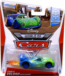 Disney / Pixar CARS Movie 1:55 Die Cast Car Mainline World of Cars Carla Veloso with Flames [Allinol Blowout 1/9]