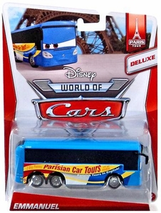 Disney / Pixar CARS Movie 1:55 Die Cast Car MAINLINE World of Cars DELUXE Emmanuel [Paris Tour 3/7]