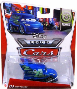 Disney / Pixar CARS Movie 1:55 Die Cast Car Mainline World of Cars DJ with Flames [Tuners 4/8]