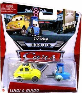 Disney / Pixar CARS Movie 1:55 Die Cast Car Mainline World of Cars Luigi & Guido [Radiator Springs]