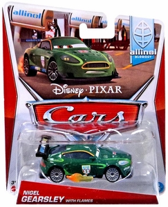 Disney / Pixar CARS Movie 1:55 Die Cast Car MAINLINE World of Cars Nigel Gearsley with Flames [Allinol Blowout 3/9]
