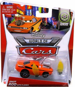 Disney / Pixar CARS Movie 1:55 Die Cast Car Mainline World of Cars Snot Rod with Flames [Tuners 3/8]