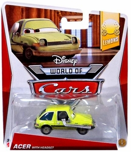 Disney / Pixar CARS Movie 1:55 Die Cast Car World of Cars Acer with Headset [Lemons 1/8]